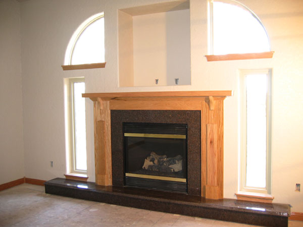 April 2, 2004 - Triple Bead Edge Mahogany Granite Fireplace Hearth